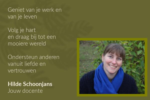 Hilde Schoonjans - jouw docente